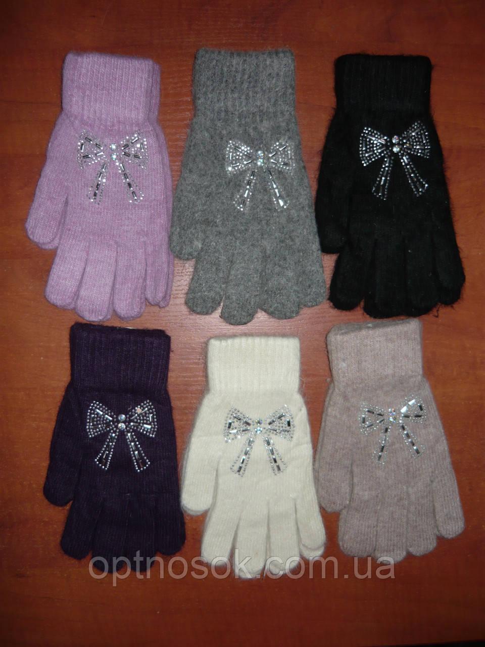 Ангора. Жіночі рукавички Корона. Бамбук