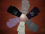 Ангора. Жіночі рукавички Корона. Бамбук, фото 3