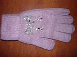 Ангора. Жіночі рукавички Корона. Бамбук, фото 4