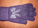 Ангора. Жіночі рукавички Корона. Бамбук, фото 5