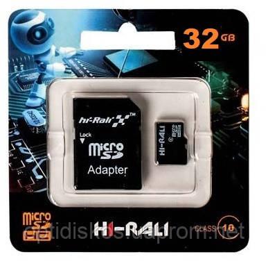 Карта памяти micro SDHC HI-RALI 32GB class 10 (с адаптером)