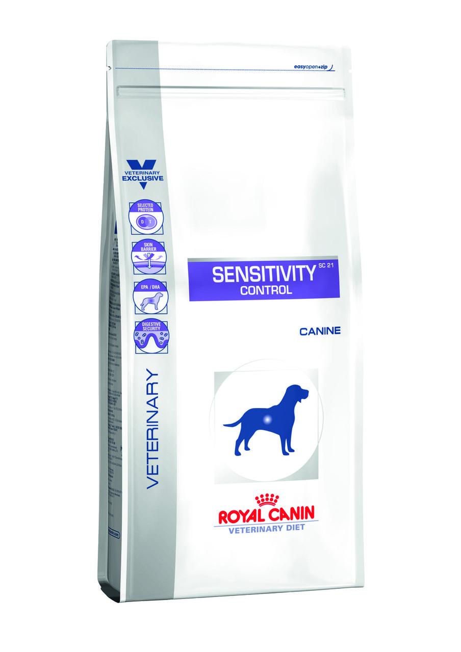 Royal Canin SENSITIVITY CONTROL - диета для собак при пищевой аллергии или пищевой непереносимости.  14кг