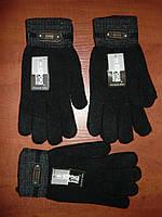 Перчатки чёрные мужские на начёсе Корона.