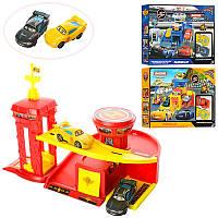 Гараж 6340-41-42 Тачки (Cars Walt Disney)машинки 2 шт, 7 см