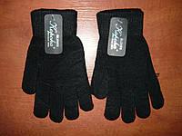 Универсальные  перчатки на начесе. Корона. Черные.