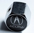 Колпачки на ниппеля ,золотники c лого Acura black Акура черный