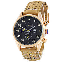 Часы наручные TAG Heuer Carrera 1887 SpaceX Mechanic Gold-Black-Yellow (реплика)