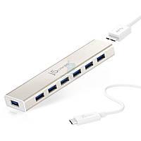 Активный USB хаб на 7 портов с блоком питания, j5create 7-Port USB 3.0 Hub (JCH377)