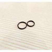 Сегмент титан, цвет  черный, диаметр 8мм и 10мм, ЦЕНА ЗА ШТУКУ