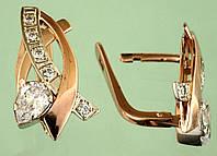 Золоті сережки з цирконом
