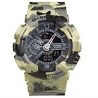 Спортивные Часы Casio G-Shock GA-110 камуфляж зеленый