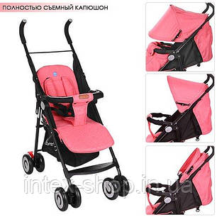 Детская коляска-трость Bambi (M 3458-3) с пятиточечными ремнями безопасности, фото 2