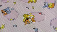 Постельное белье для малышей в кроватку Бязь белорусская Кармашки розовый