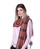 Красивый шарфик кирпичного цвета Тренд сезона