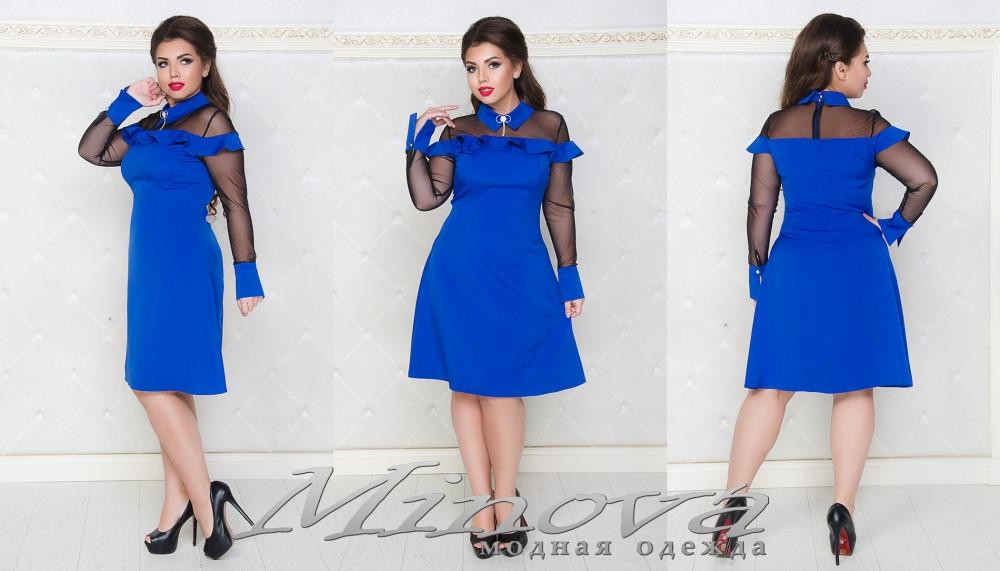 Платье большого размера разные цвета 50-54