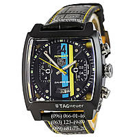 Часы наручные Tag Heuer Monaco Calibre 36 Automatic Black-Yellow (реплика)