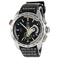 Часы наручные Tag Heuer Grand Carrera Calibre 36 Mechanic Black-Silver-Black (реплика)