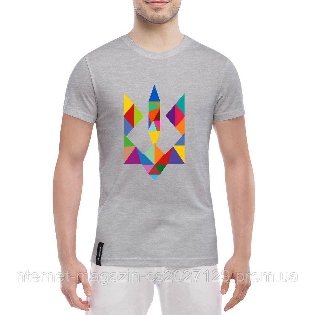 Модная мужская футболка с тризубом (с символикой Украины)