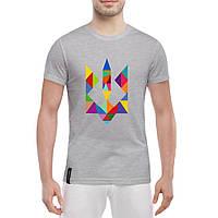 Модная мужская футболка с тризубом (с символикой Украины), фото 1