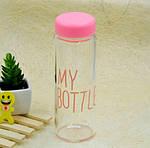Бутылка Май Ботл, My Bottle розовая с мешочком, фото 4