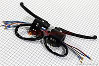 Блок кнопок на руле левый и  правый с рычагами на мопед Viper Alpha