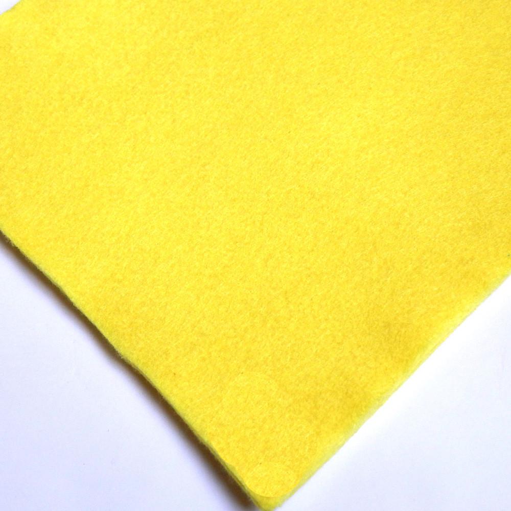 Фетр мягкий №12 лимонный, лист 30х20 см, 1,5 мм (Тайвань)