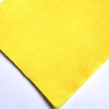 Фетр мягкий №12 лимонный, лист 30х20 см, 1,3 мм (Тайвань)