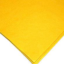 Фетр мягкий №13 желтый, лист 30х20 см, 1,3 мм (Тайвань)
