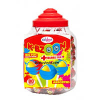 Леденцы K-Bzoon Big Pops банка 80 шт (Aldor)