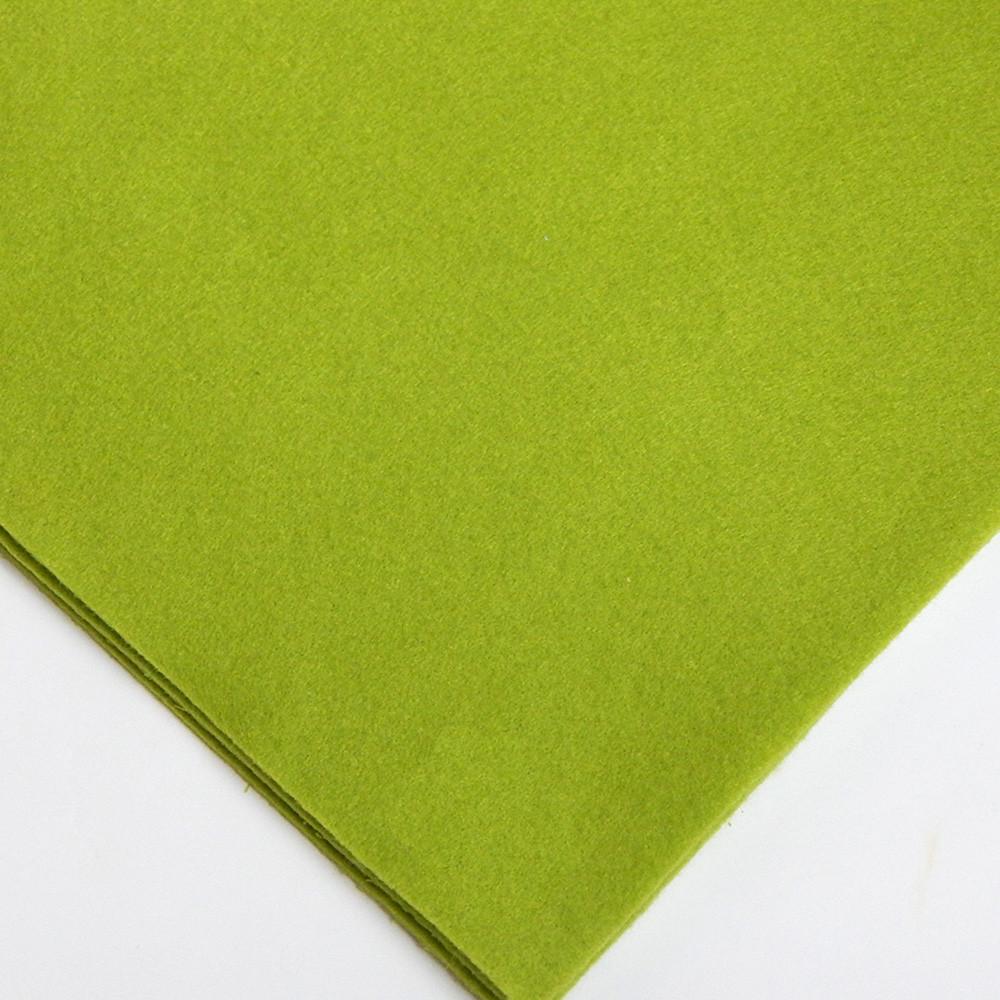 Фетр мягкий №20 св-оливковый, лист 30х20 см, 1,5 мм (Тайвань)