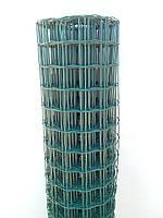 Сетка сварная оцинкованная с ПВХ Премиум 50х50 1,5м Х 25 метров в рулоне, для забора.