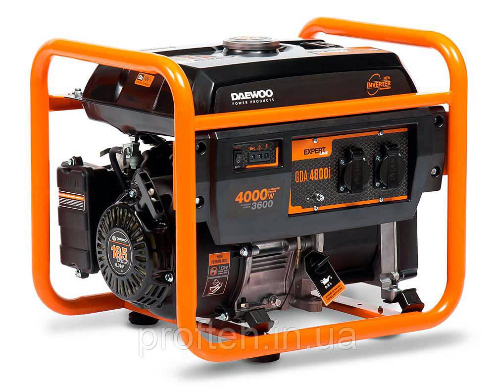Инверторный генератор Daewoo GDA-4800I (3,6 кВт, бензин, ручной стартер)