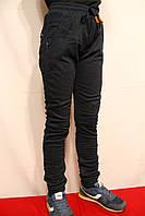 Котоновые брюки для мальчиков на флисе на манжетах. Синего цвета от 8-16лет (146-176см) Фирма-Niebieski