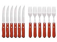 Набор вилок и ножей Peterhof PH-22432 деревянная ручка