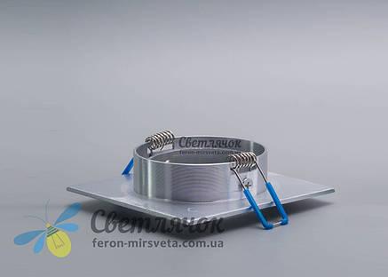 Cветильник точечный встраиваемый поворотный Feron DL6120 серебро под лампу MR16, фото 2