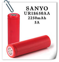 Японские Li-ion аккумулятор Sanyo NCR18650GA 2250 mAh 10А (20А) Без защиты