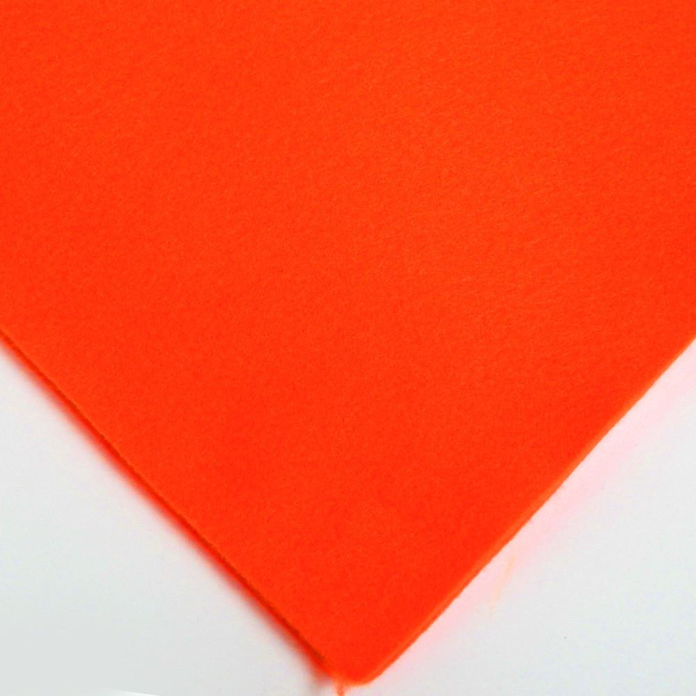 Фетр мягкий №31 мандарин, лист 30х20 см, 1,5 мм (Тайвань)