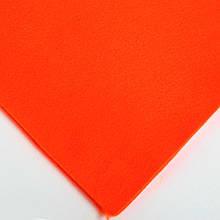 Фетр мягкий №31 мандарин, лист 30х20 см, 1,3 мм (Тайвань)
