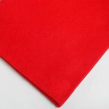 Фетр мягкий №33 красный, лист 30х20 см, 1,3 мм (Тайвань)