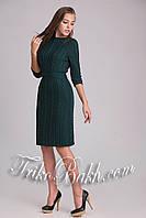 Вязаное ажурное женское платье по колено , фото 1