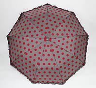 Зонт Круги серый/красный п/авт , фото 1