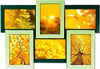 Мультирамка Зеленая на 6 фотографий