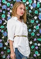 Белая рубашка с поясом