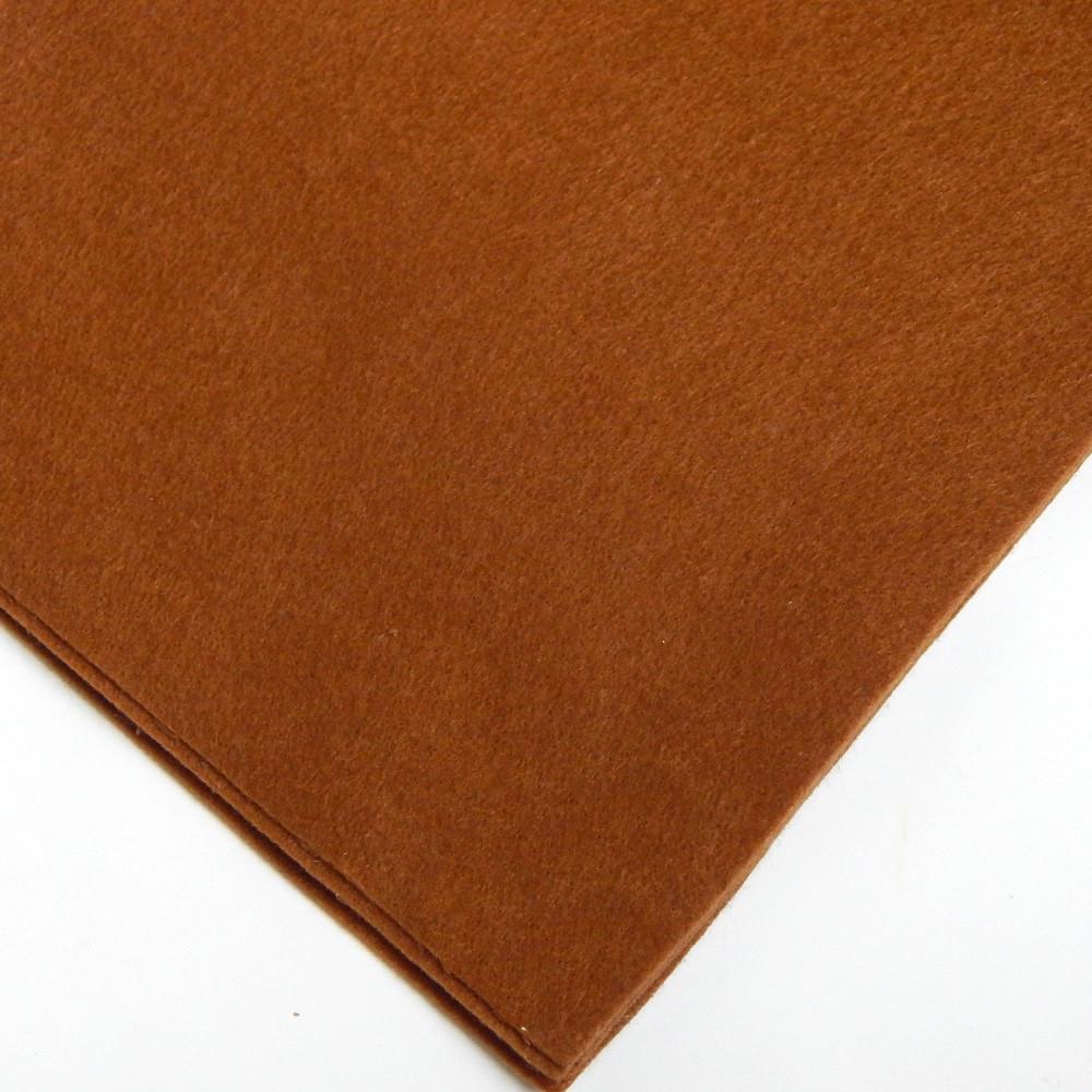 Фетр мягкий №64 коричневый, лист 30х20 см, 1,5 мм (Тайвань)