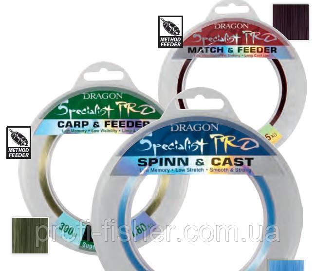Волосінь Dragon Specialist Pro Carp&Feeder 300m 0.20 мм, 5.75 кг