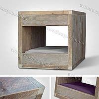 Деревянный домик-тумбочка для питомца, кота, кошки и собаки