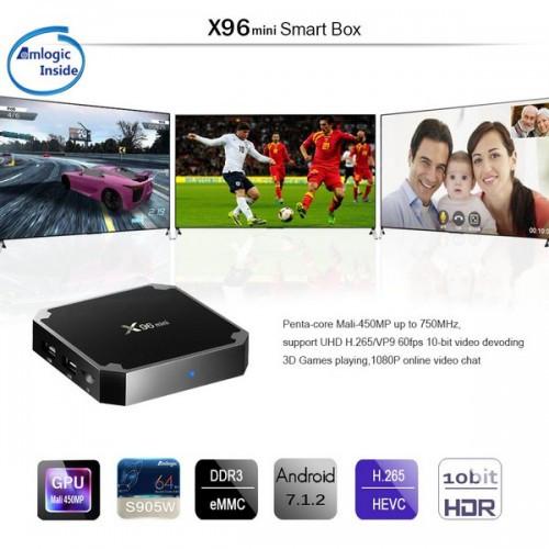 Медіаплеєр Android TV BOX X96 mini 1GB+8GB Amlogic S905W