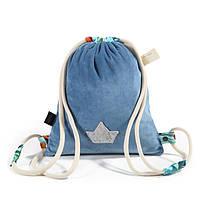 Рюкзак La Millou Denim-Blue Hawallan. Velvet Collection, фото 1