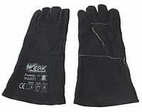 Werk WE2127 Перчатки замшевые (краги) черные