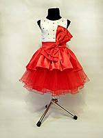 Детское платье праздничное новогоднее Красный бант
